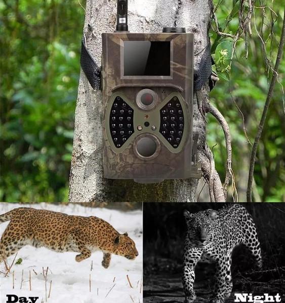 Trampas fotográficas de 12 MP, correo electrónico MMS GSM 1080P de visión nocturna, trampas de caza HC300M cámara de caza salvaje cámara salvaje