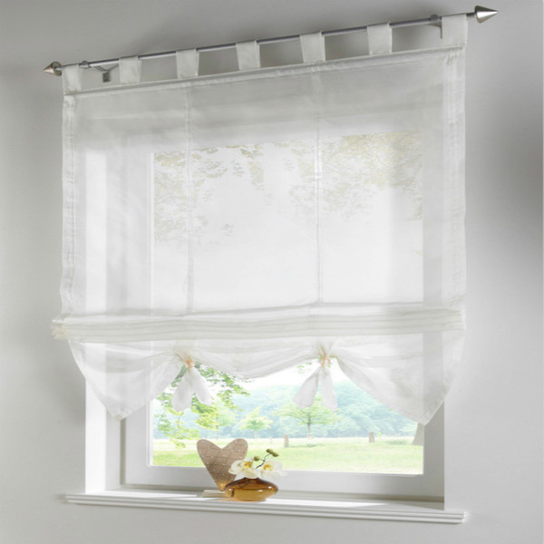 best selling 2pcs finished products roman blinds can lift balcony curtains for the kitchen,cafe,window curtains for home decoration