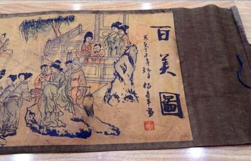 Silk Paper Pretty Chinese Ancient Painting 1 hundred Beautiful women