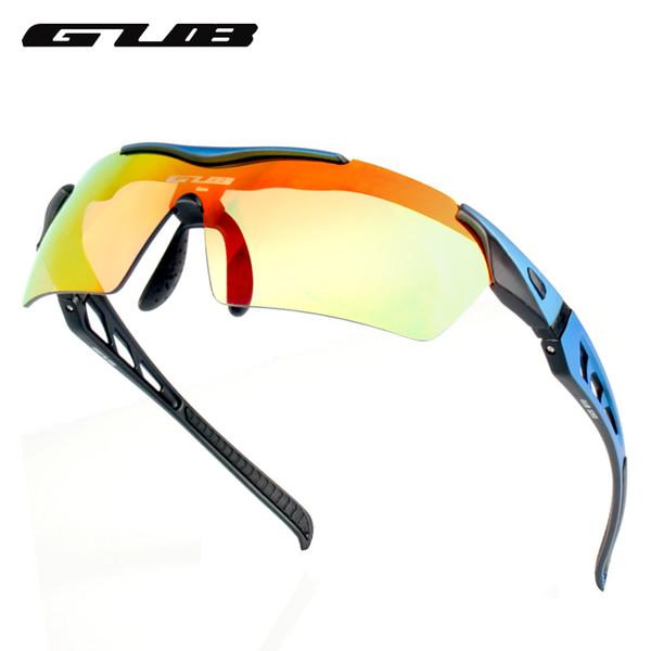 venta al por mayor 5200 Gafas de sol deportivas UV400 Gafas protectoras con 3 lentes 3 colores Ligero colorido Ciclismo polarizado