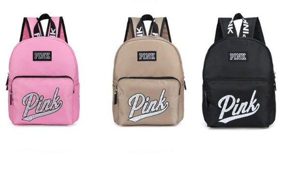 The New Pink Mini Waterproof Backpack With a Double Shoulder and a European and American style Monogrammed Backpack