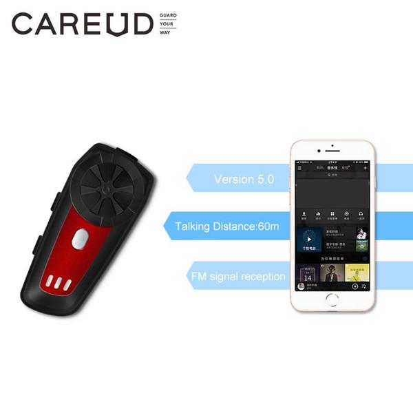 CAREUD M6 Walkie-Talkie-Bluetooth-Headset Drahtlose Gegensprechanlage für Motorradhelm Reithelm Bluetooth-Gegensprechanlage Headset