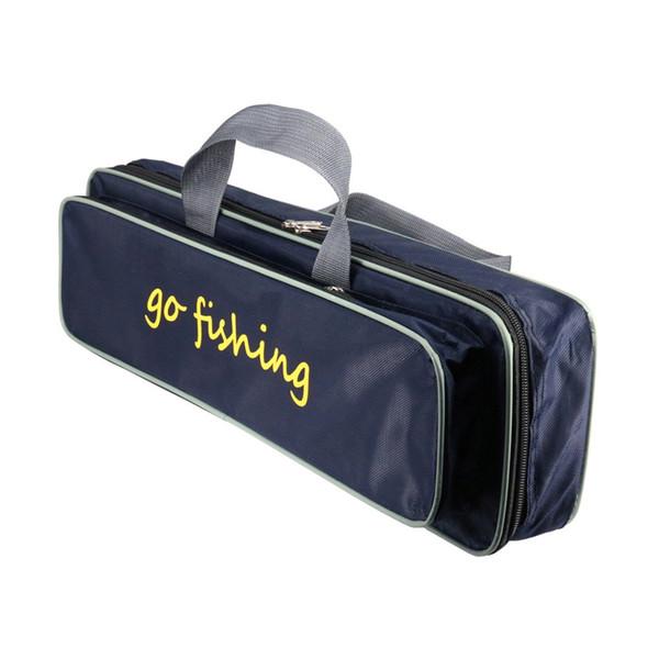 50CM Zipper Fishing Bag Large Capacity Portable Waterproof Fishing Rod Reel Lure Canvas Pole Storage Case Tackle #159258
