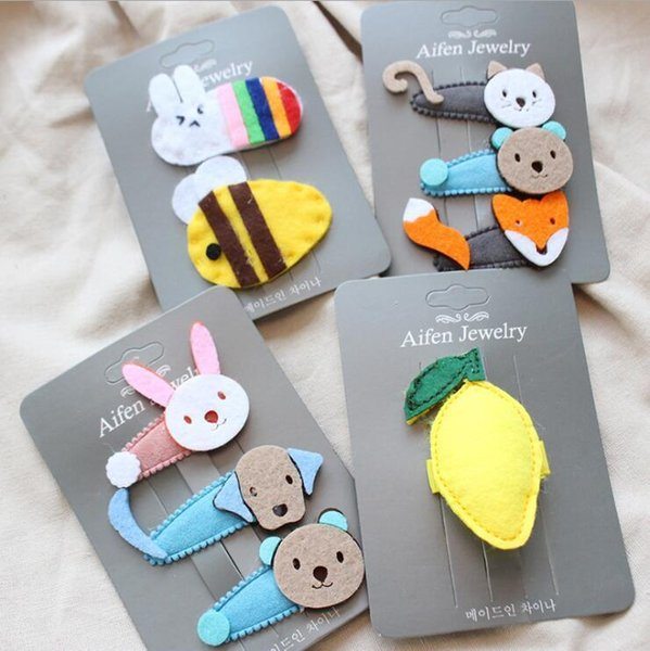 cute cartoon animal children hairpin girls kids hair clips bobby pins accessories for hair barrette hairclip hairgrip headwear