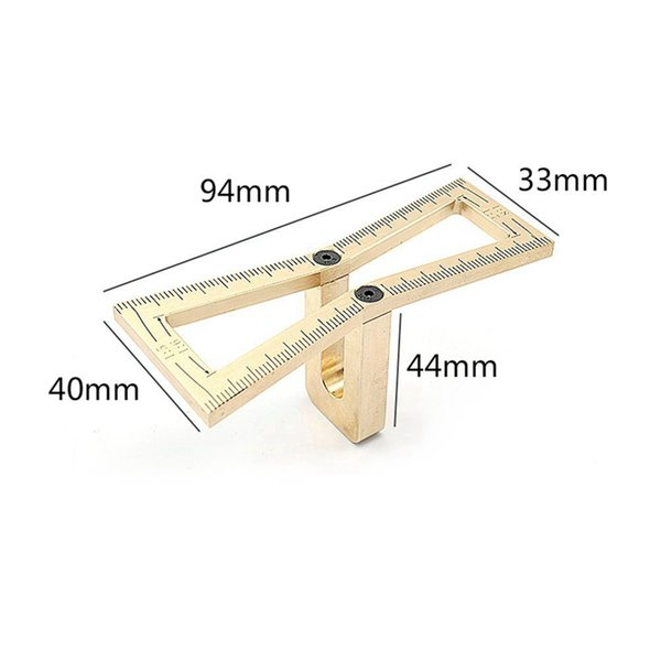 best selling Freeshipping Woodworking Dovetail Marker Gauge Carpenter Copper Hand Cut Wood Joints Gauge Woodworking Tool 1:5 1:6 1:7 1:8