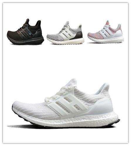 Das mulheres dos homens 3.0 4.0 ultra moca multicolor candy cane oreo triplo preto branco cny primeknit sneakers drop-ship