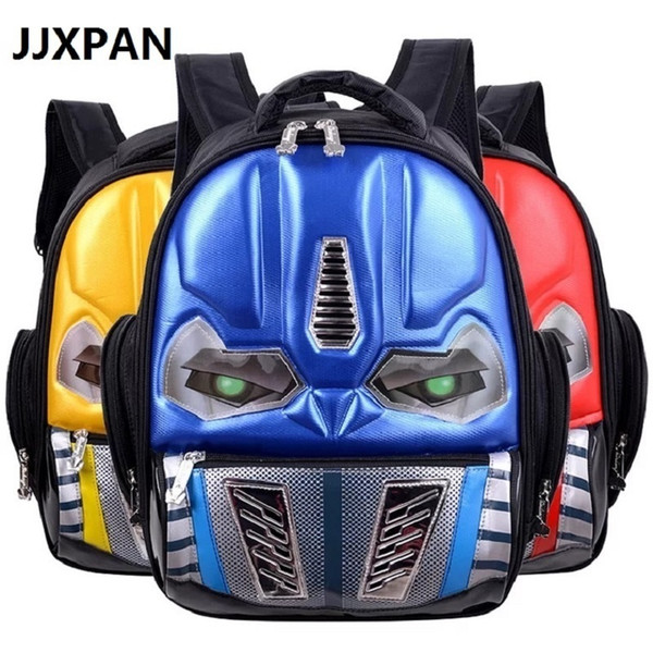 Transformers School Children 4-8years Kids Backpack Mochila Waterproof Cartoon Boys Book Bag Q190530