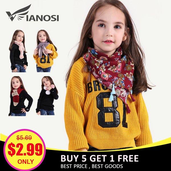 VIANOSI 7 Art-schöne Mädchen-Schal-Winter-Art- und Weisewarme Faux-Pelz-Schals für Baby-Weihnachtsgeschenk-Ausverkauf