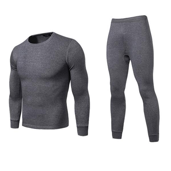Men/'s Long Johns manica lunga Tops Tshirts Inverno Caldo Biancheria Intima Termica S-XL