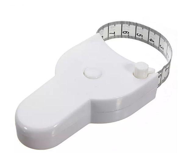 top popular High Quality 1.5m Fitness Accurate Body Fat Caliper Measuring Body Tape Ruler Measure Tape Measure White Body Fat Caliper 180pcs 2021