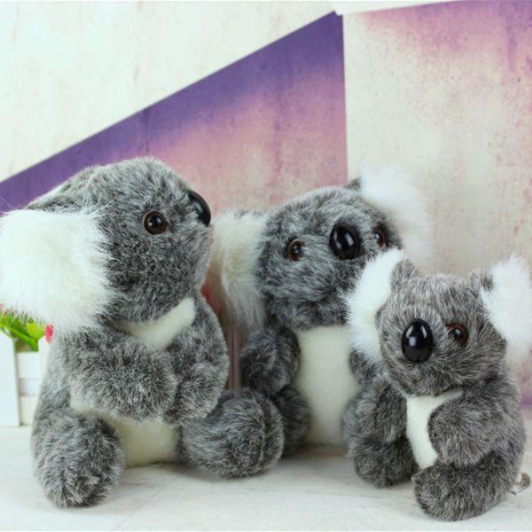 10 PCS 16 CM Nouvelle Arrivée Super Mignon Petit Koala Ours En Peluche Jouets Aventure Koala Poupée D'anniversaire Cadeau De Noël AIJILE