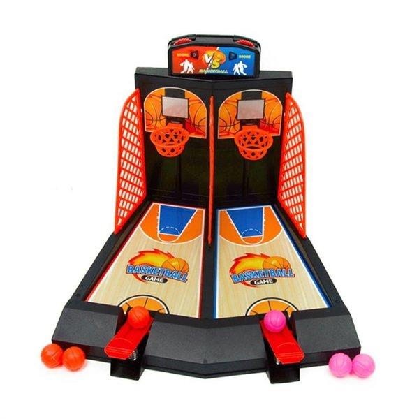 2 jugadores de tableta de baloncesto Juguete de baloncesto Juego de tiro para niños adultos - Color aleatorio