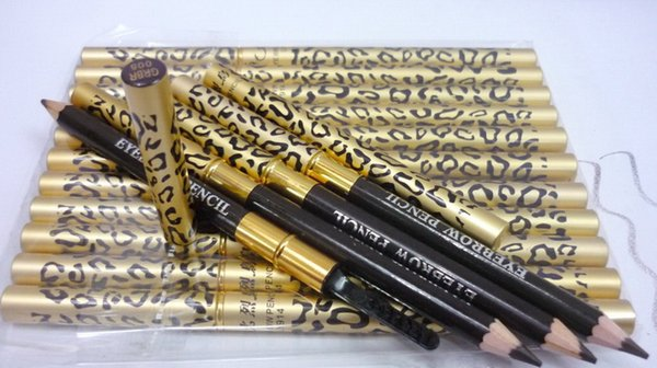 New Chinese Brand Makeup Leopard WaterProof Eyebrow Pencil 5 Color Double-End Eyebrow Enhancers Metal Tube Pencil Chinese Brand