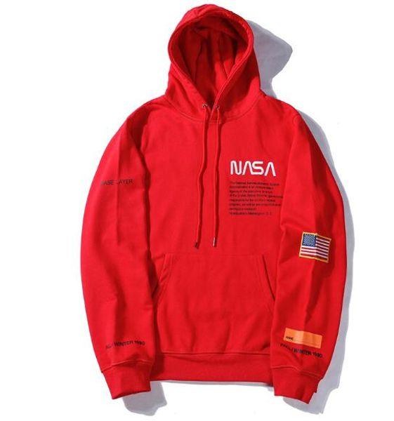 Brand New NASA Hoodie NASA joint name plus velvet men and women oversire hooded hooded hip hop ins tide loose sweater