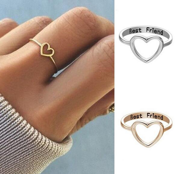 Best Friend Ring Jewelry Rings Gift Girl Friendship Promise Hot Women Love Heart