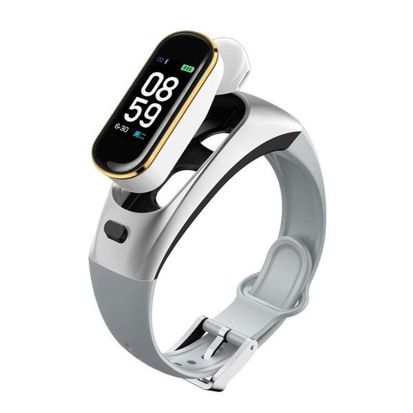 H109 Kopfhörer Smart-Armband-Blutdruck-drahtloser Bluetooth Kopfhörer Smart Watch Phone Fitness Tracker Band