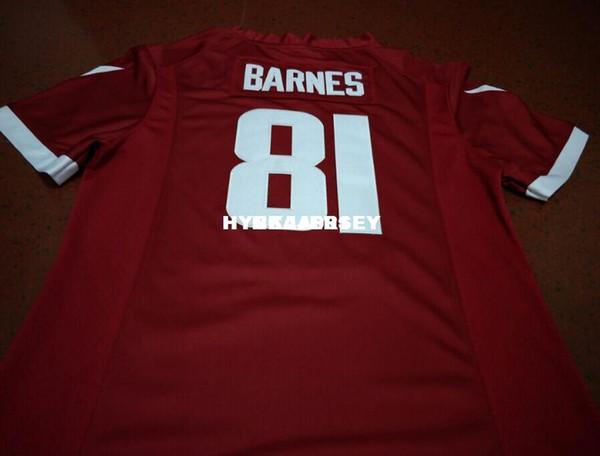 Gli uomini ECONOMICI Popular di alta qualità # 81 Jarrod Barnes Ar Alumni Collegio Jersey XS-6XL o su misura qualsiasi nome o numero di maglia