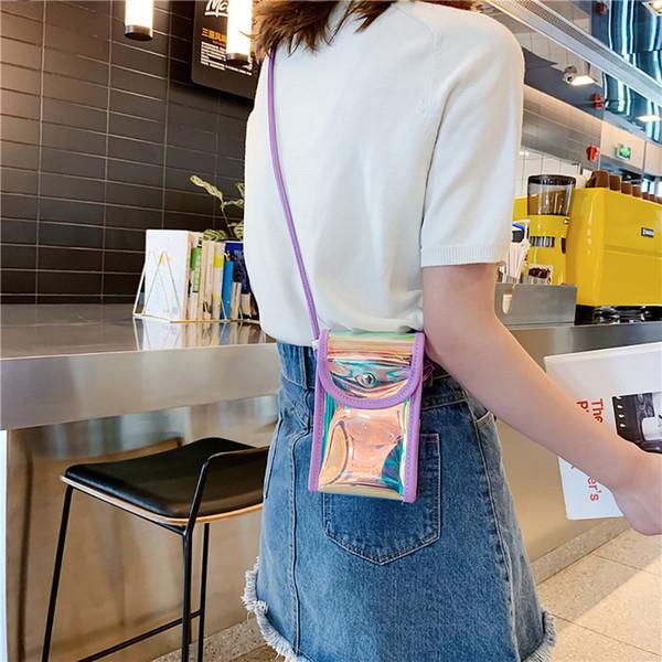 MUQGEW Fashion Lovely Design Women Borsa a tracolla trasparente Moda semplice Borsa a tracolla Piccola piazza # 0510