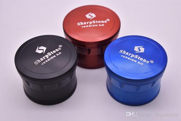 Date Grinder SharpStone Version 2.0 Herb Grinder 63mm 4 couches en alliage de zinc Métal Tabac Fumer Sharp Stone Grinder Fumer Accessoires