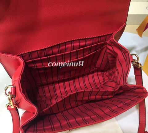 Red Emboss Leather