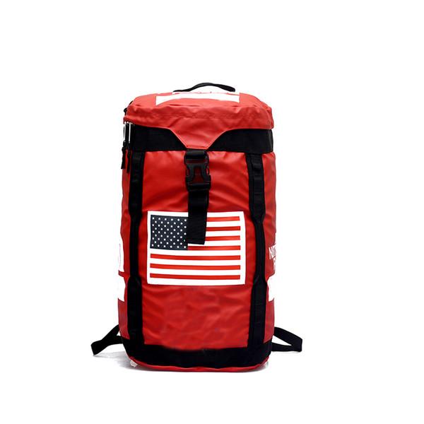 Brand Large Capacity Backpack Oxford Cloth Waterproof Black Red Outdoor Hiking Rucksack Fashion MenTravel Handbags