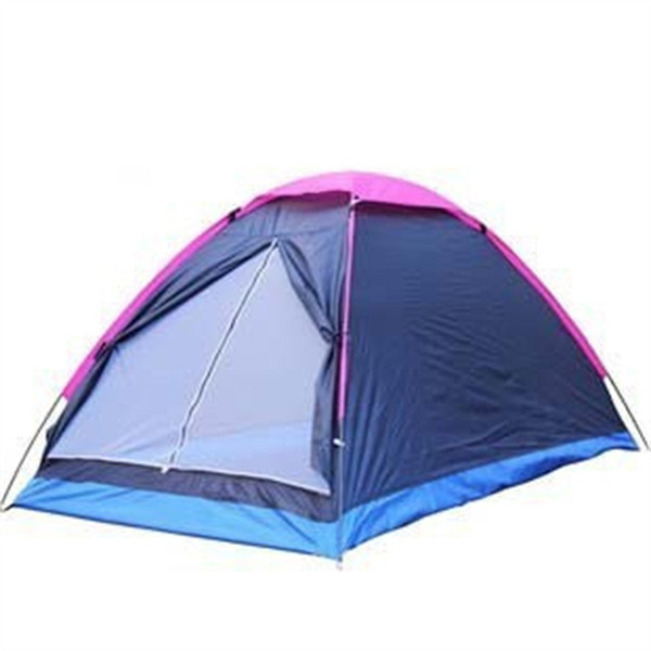 Double Person Tent Single Layer Shelters Beach Park Camping Shelters Tents Rain Proof Oxford Cloth Portable Blue 34yh C1