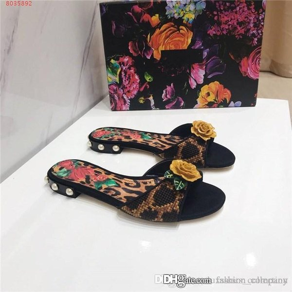 Spring And Summer Necessary Style The Latest Big flower Slippers Exclusive Bow Ladies Slippers fashion flat shoes