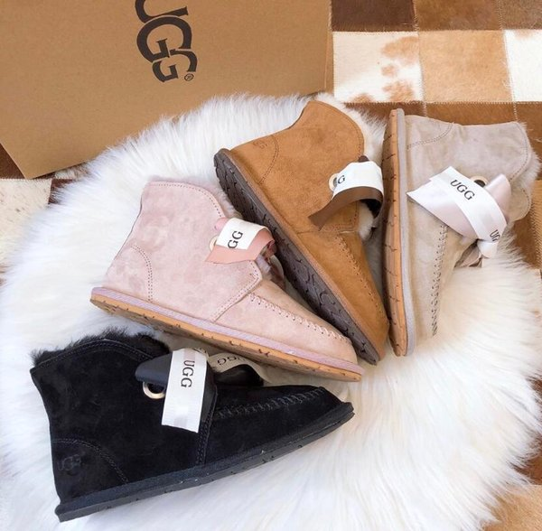 New Style AustraliaUGGUGGSSnow Boots 100% High Quality Women And Mens Warm  Boots Classic Sheepskin One Piece Non Slip Shoes Girls Hair Extensions
