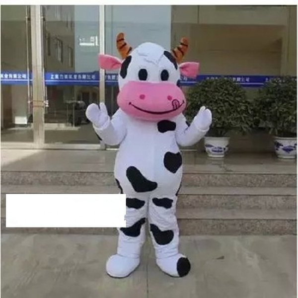 COW Mascot costume Adult Top Quality Cartoon Cow Cartoon Costumes Halloween Party Mascot