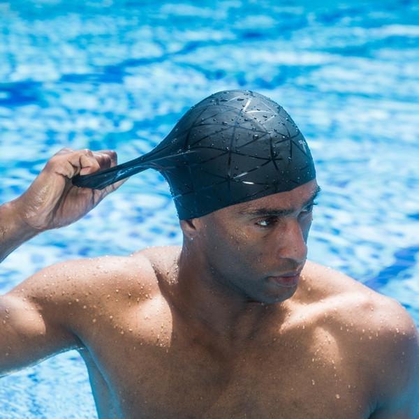 3D Elastic Professional Silica Gel Caps Waterproof Ear Protection Adult Men Women Long Hair Swimming Hat Cover Ear Bone Pool