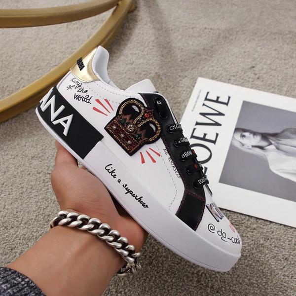 2020M novas couro grafite homens e mulheres sapatos casuais sapatos desportivos tamanho selvagem par sapatos LuxuryLouisVuittonDolceGabbana 35-45