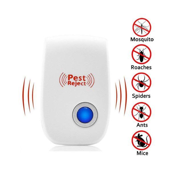 Haşere Kontrol Ultrasonik Haşere Kovucu Sivrisinek Katili Elektronik Anti Kemirgen Böcek Kovucu Fare Hamamböceği 5 Fişler Şartname VF0030