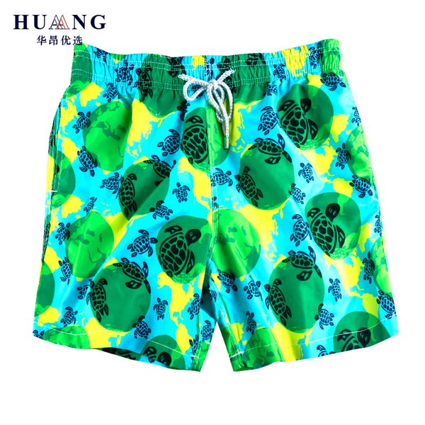 Brand Trendy Board Shorts Men Quick Dry Turtle Printed Male Beach Short Bermuda Swimwear Vilebre Men's Swimsuit Casual Sports Short Man