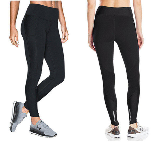 2019 Women Stretchy Leggings U&A Sports Jogging YOGA Pants High Waist Skinny Tights Amour Push Up GYM Workout Trousers Track Pants C42305