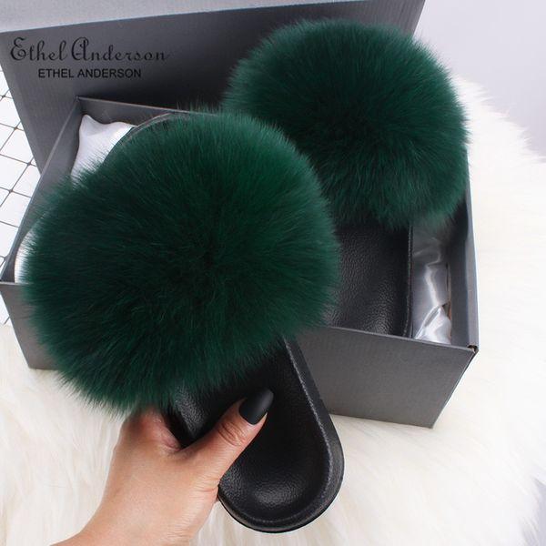 Pele De Raposa Verde Escuro