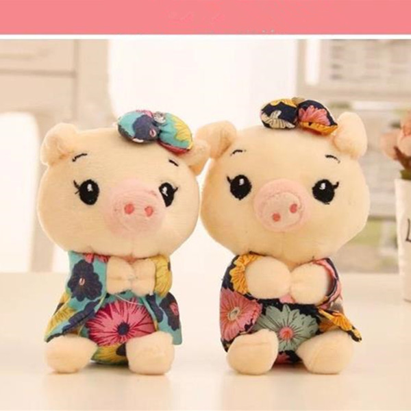 Cute Pig Japanese Anime Keychain Car Fur Keychain Plush Key Keychains Key Ring Holder Pendant for Bag Gifts for Women Girl