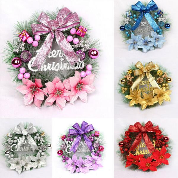 2020 Newest Creative Christmas Wreath Hanging Decor Xmas Party Door Wall Garland Ornament Decors Christmas Decoration Wreath