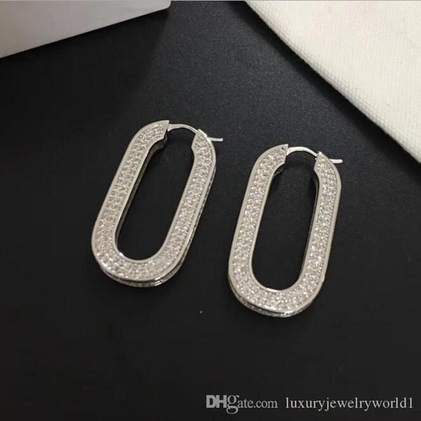 Роскошный дизайнер Франция U стиль серьги с Кристаллом высшего качества бриллиантовые серьги для женщин ювелирные изделия