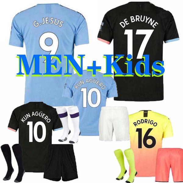 19 20 SANE Hombre Camisetas de fútbol STERLING City 2019 2020 manchester DE BRUYNE KUN AGUERO Camiseta de fútbol FODEN Camiseta de fútbol RODRIGO HOMBRE + NIÑOS