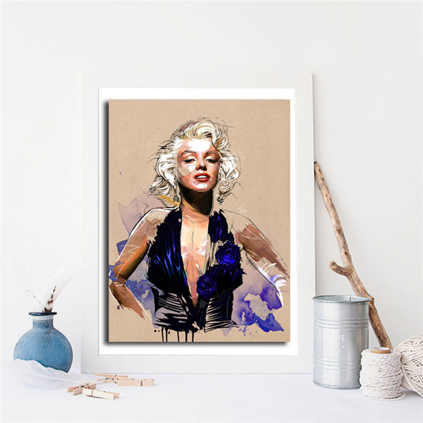 Illustrations Of Marilyn Monroe Sexy Posters Famous Star Wall Art Canvas Painting Prints Pictures Bedroom Modern Home Decor