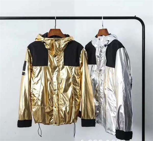 Men Winter Jackets Windbreaker Male Clothing Hoodie Reflective Silver Gold Homme Jacket High Street Man Hooded Coat 03