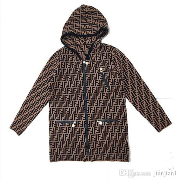 [Exclusive new] long hooded casual knit cardigan coat female 2018 autumn and winter high quality spot