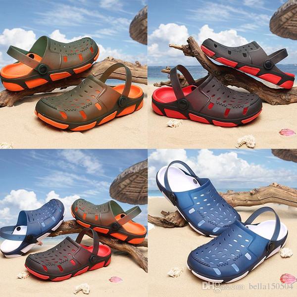Yeni Jöle plaj Sandalet Erkekler açık Plaj Terlik Erkek Hafif Yaz Eva Bahçe Ayakkabı Nefes Delik Erkek terlik boyutu 40-45