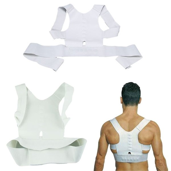 New Men Women Magnetic Posture Support Corrector Back Belt Band Pain Feel Young Belt Brace Shoulder for Sport Safety #533303