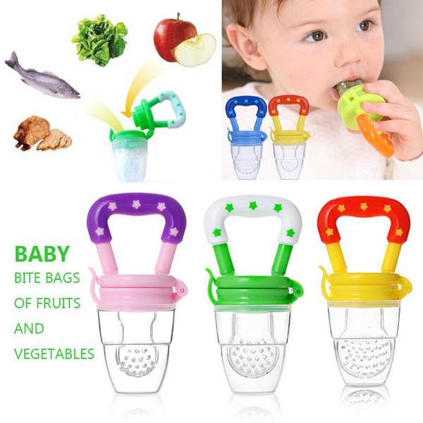 Silikon Bebek Emzikler Meyve Sebze Eğlenceli Bite Geyik Diş Kaşıyıcı Yatıştırıcı Nipeller Hediye Bebek Bakım Ürünleri Öğeleri