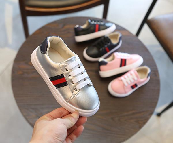 2019 весной новые детские туфли корейские плоские белые shoesThe мальчик девочка случа