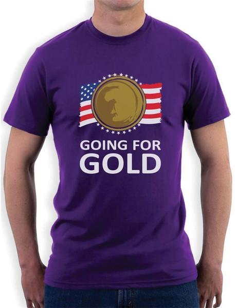 Camisas feitas sob encomenda que vai para homens de compressão de manga curta de ouro camisetas