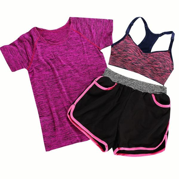 Повседневные женские костюмы спортивные быстросохнущие футболки топы бюстгальтер жилет фитнес-брюки пуловеры топы шорты эластичный пояс леди
