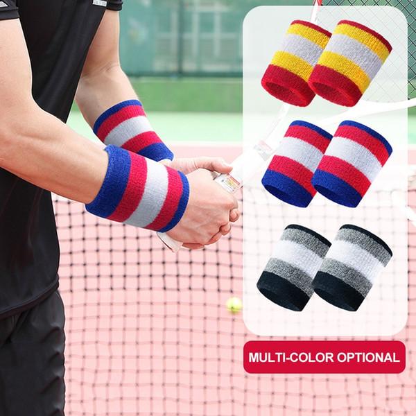 supporto per il polso Sport Wristband Cotton Sweat-assorbente Basket Badminton Tennis da tavolo Yoga Warm Towel Guard traspirante Polso # 72834