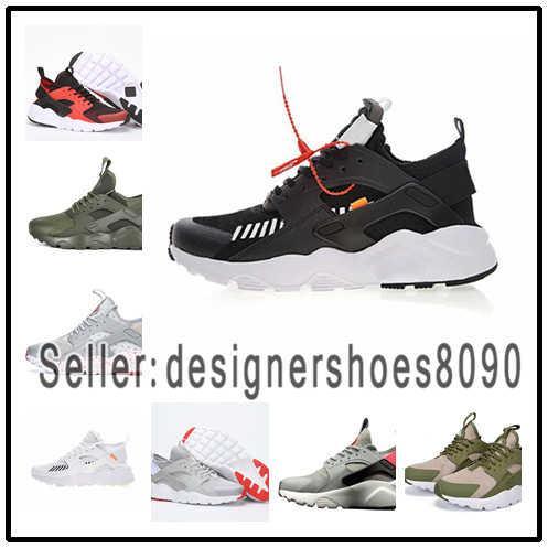 2018 Designer shoes Nike men women Huarache 4 Homens Mulheres Sapatos Ao Ar Livre Todos Os Huraches Branco 3 Zapatos Ultra Respirar Huaraches Mens Formadores Hurache 2 SE Tênis